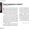 Does happiness matter?