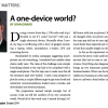 A one-device world?