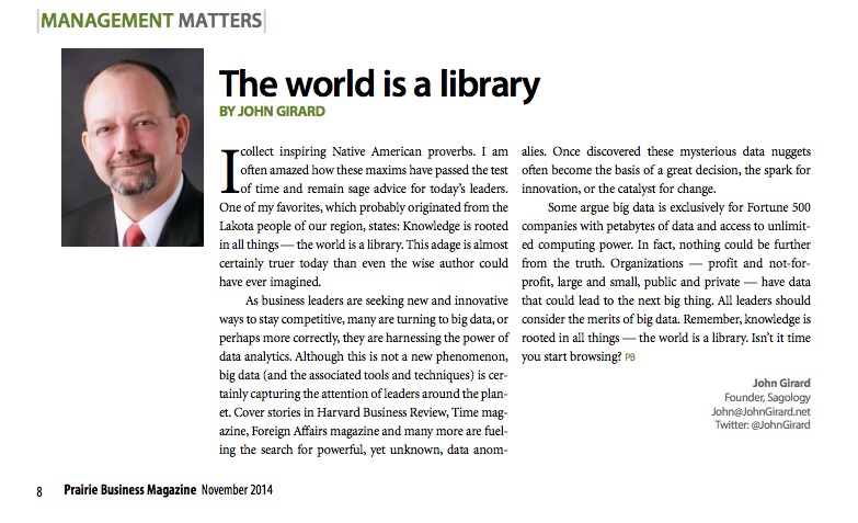 The world is a library