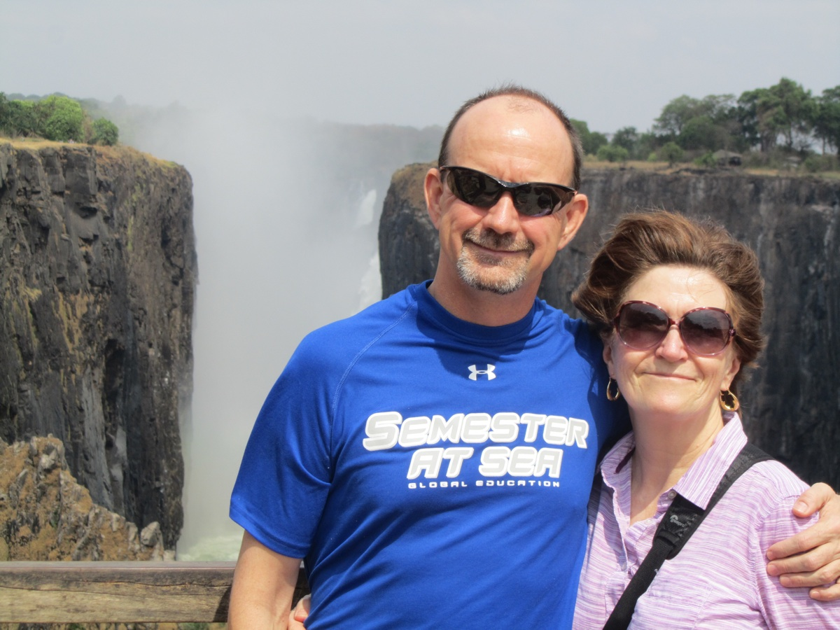 John and JoAnn at Victoria Falls