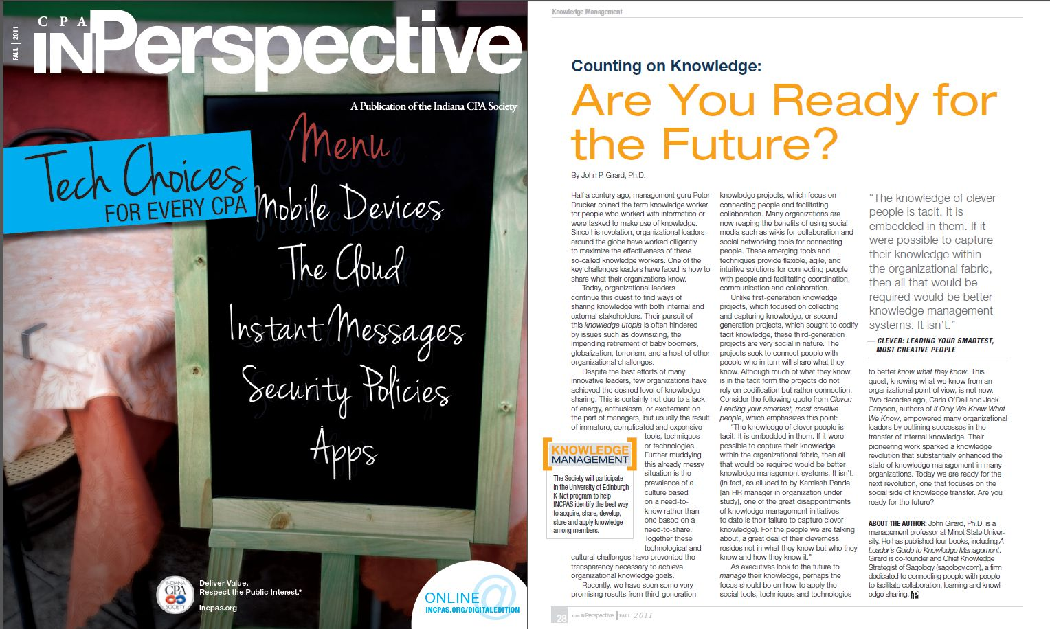 Counting on Knowledge: Are You Ready for the Future?
